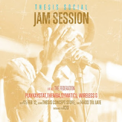 thesis social jam sessions soweto Kaizen events: thesis social jam session 6 march 2011 (deep soweto) will be representing the ghetto youth with some new track and a hyped performance.